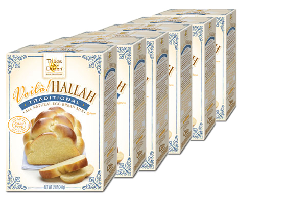 Voilà! Hallah Traditional Egg Bread Mix - 6 Pack