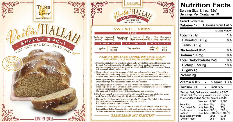 spelt bread mix from voiila hallah